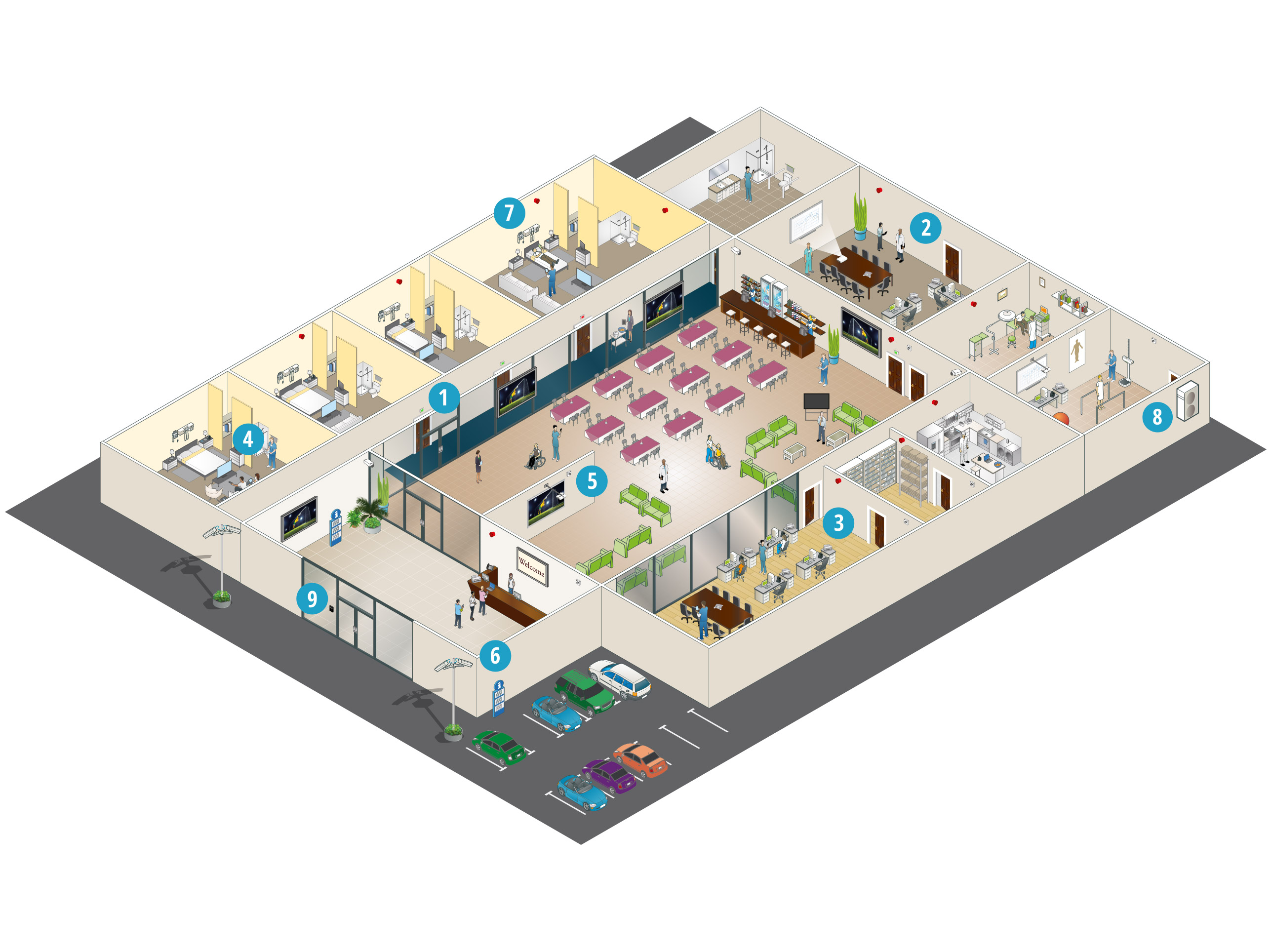 How do Panasonic solutions support care homes?